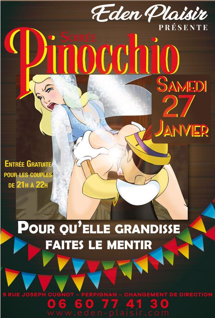 Soirée Pinocchio eden plaisir perpignan