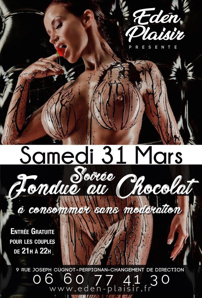 Soirée Fondu au chocolat eden plaisir perpignan
